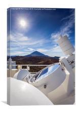 Solar telescope mirror, Canvas Print