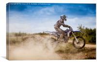 Dusty motocrosser, Canvas Print
