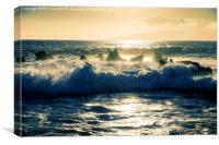 Rough seas in Tenerife., Canvas Print