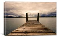 Waterfront jetty, Canvas Print