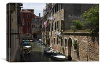 Washing day in Venice, Canvas Print
