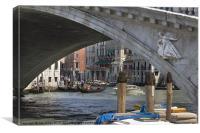 Under the Rialto Bridge, Canvas Print