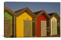 Beach Huts in bright sunshine, Canvas Print