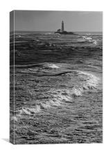 Rough Seas around St Marys, Canvas Print