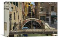 Venetian small canal, Canvas Print