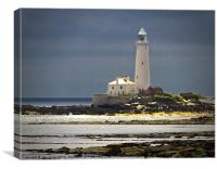 St Marys Island Lighthouse, Canvas Print