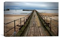 Wooden Pier at Blyth Northumberland, Canvas Print