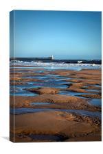 February on the beach, Canvas Print