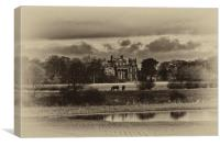 Seaton Delaval Hall in sepia, Canvas Print