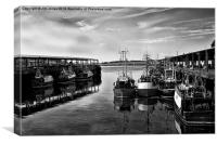 North Shields Fish Quay in B&W, Canvas Print