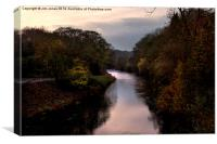 River Coquet at Felton Northumberland, Canvas Print