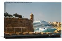 Grand Harbour Valletta, Canvas Print