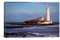 St Marys Island and Lighthouse, Canvas Print