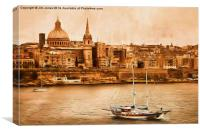 Valletta Malta in the style of Georgia O'Keefe, Canvas Print