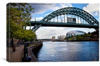 Tyne Bridges and The Sage, Canvas Print