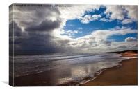 Northumbrian beach scene, Canvas Print
