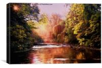 Autumn on the River Blyth, Canvas Print