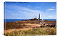 St Mary's Lighthouse in the style of Rembrandt, Canvas Print