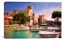 Sirmione Scaliger Castle with artistic filter