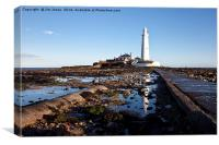 Reflections of St Mary's Lighthouse, Canvas Print