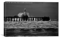 Storm in Black and White, Canvas Print