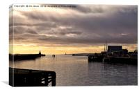 Morning on the River Blyth, Canvas Print
