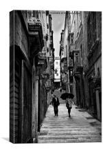 Valletta drizzle, Canvas Print