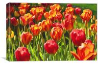 Artistic Tulips, Canvas Print