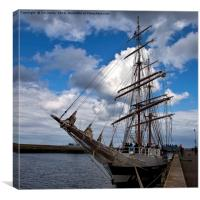 End of the voyage, Canvas Print