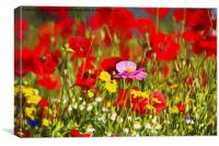 Artistic Roadside Flowers, Canvas Print