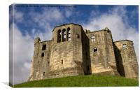 Warkworth Castle Keep, Canvas Print