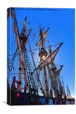 Artistic Tall Ship masts, Canvas Print