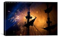 Fireworks and Tall Ships, Canvas Print