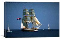 Painterly Sailing Ship, Canvas Print
