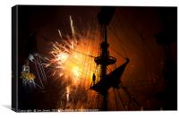 Fireworks and Tall Ships 2, Canvas Print