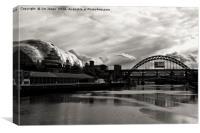 Tyne Bridge and the Sage, Canvas Print