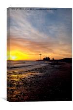 Pastel shades of dawn, Canvas Print
