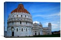 Artistic Pisa, Canvas Print