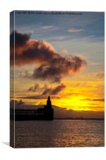 North Sea daybreak, Canvas Print
