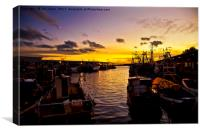 North Shields Fish Quay at Dusk., Canvas Print