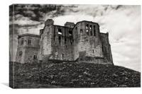 Warkworth Castle in springtime, Canvas Print