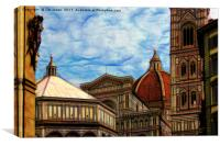 Artistic Florence, Canvas Print