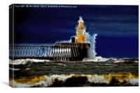 Fractal storm, Canvas Print