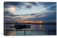 Early start for the River Blyth Pilot cutter, Canvas Print