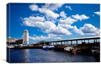 North Shields Fish Quay , Canvas Print