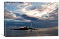 First Light at St Mary's Island 2, Canvas Print