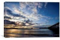 Sunrise silhouettes, Canvas Print