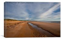 Druridge Bay, Northumberland, Canvas Print