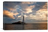Daybreak at St Mary's Island, Canvas Print