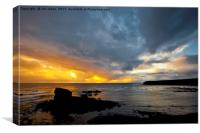 Sunrise at Collywell Bay, Canvas Print
